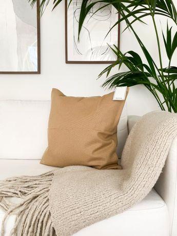Poszewka na poduszkęH&M beżowa camelowa 50x50cm NOWA bawełniana