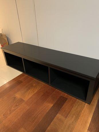 Hemnes IKEA szafka półka lite drewno, kolor czarny