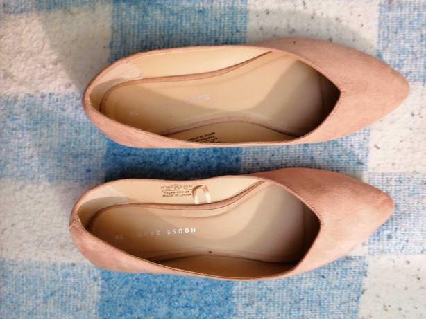 Baletki-buty, zamsz