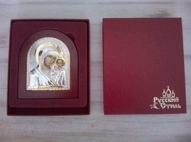 Русский стиль Казанская икона Божьей Матери (овал, дерево)