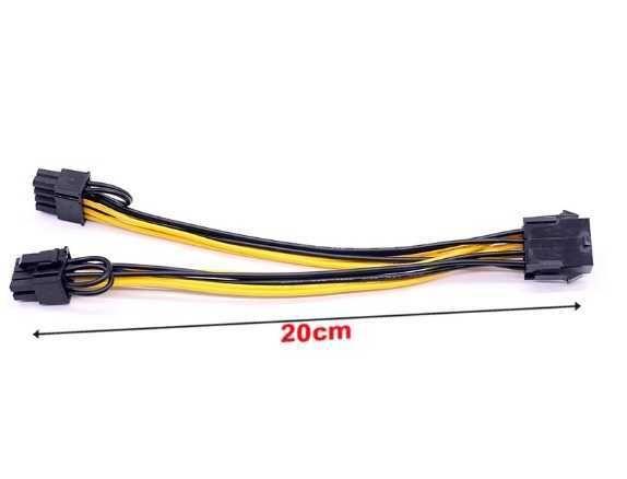 Разветвитель, удлиннитель питания видеокарты 8 to 8pin (6+2) PCI-E