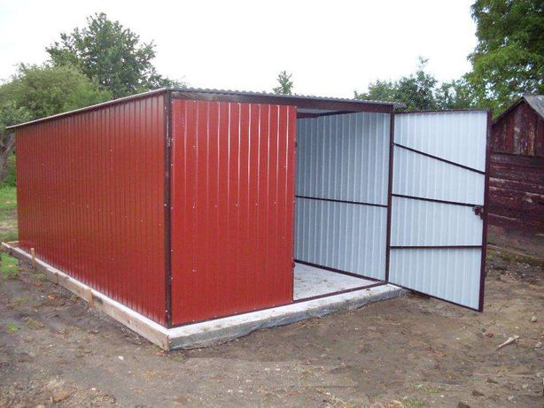ŚL Garaż blaszany kolor w cenie ocynku