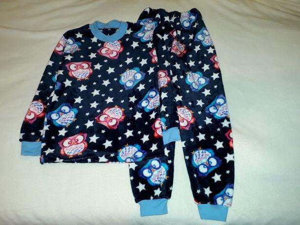 """Детская махровая пижама на 7-8 лет, """"Совушки"""""""