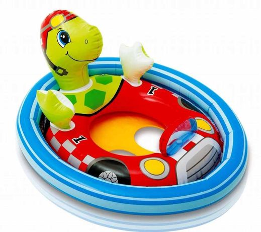 """Детский надувной круг Intex """"Черепаха"""" плотик для купания 76x58 см"""