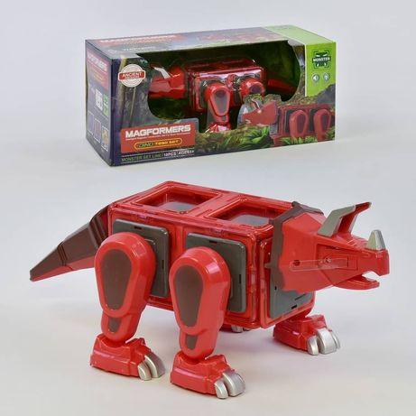 Магнитный конструктор динозавр