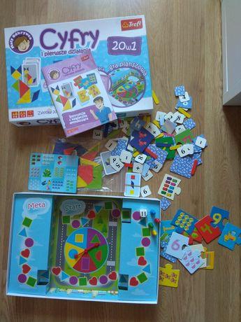 Cyfry i pierwsze działania - Trefl - 20 gier dla dzieci
