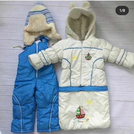Комбез—трансформер Bambino + шапка новая зимняя в подарок
