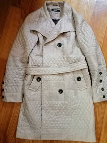 Женское стеганое пальто плащ
