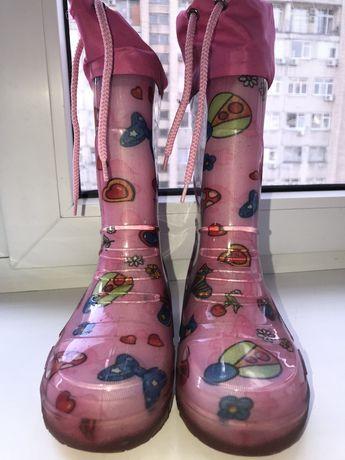 Продам детские резиновые сапоги для девочки, 31 размер