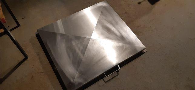 Właz ze stali nierdzewnej do studni, pokrywa studni światło 60x70 cm