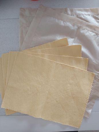Zestaw 4 podkładek żółte serwetki na stół serweta Home & You gratis