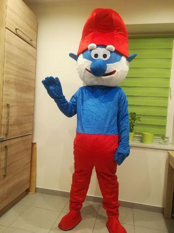PAPA SMERF Chodząca żywa duża maskotka kostium reklamowy promocyjny