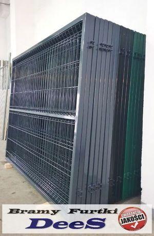 Solidna Brama dwuskrzydłowa 4000x1500 w komplecie monterskim