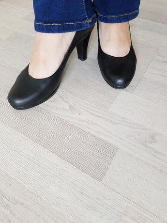 Туфли лодочка на каблуке классика кожа натуральная