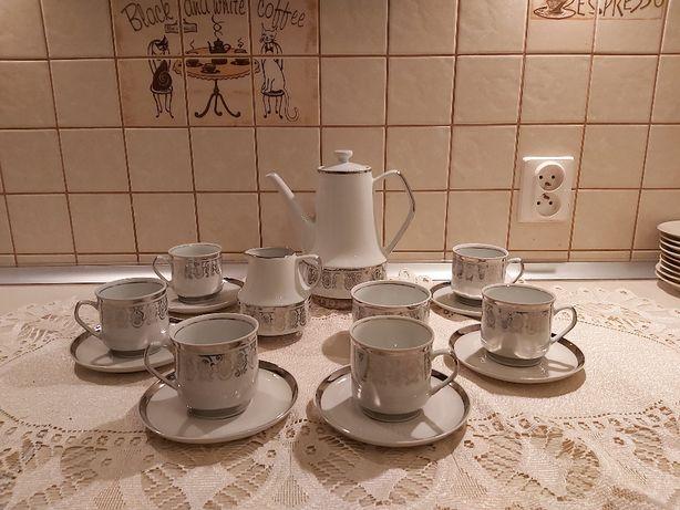 Serwis do kawy Roman Chodzież porcelana garnitur stan bdb