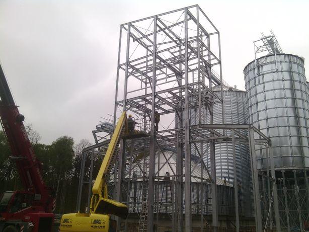 Montaż konstrukcji stalowych, i silosów zbożowych Cala Polska
