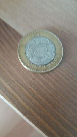 Monety z Brazylii i Meksyku.