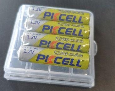 Аккумуляторы 4 шт. мизинчики +холдер Ni-Mh AAA PKcell 1200mAh