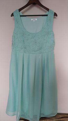 Sukienka ciążowa 44 XXL zwiewna niebieska błękitna