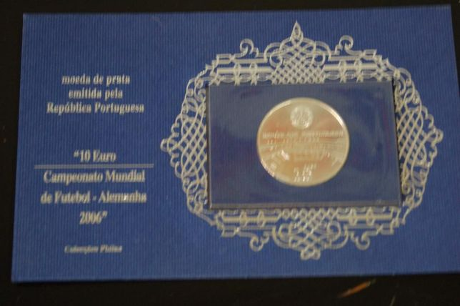 Moeda prata 10 euros Campeonato Mundial de Futebol 2006