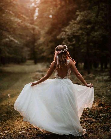 Piękna, wyjątkowa suknia ślubna GRATIS :)