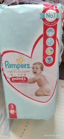 Pampers premium care 3 pants  48 шт