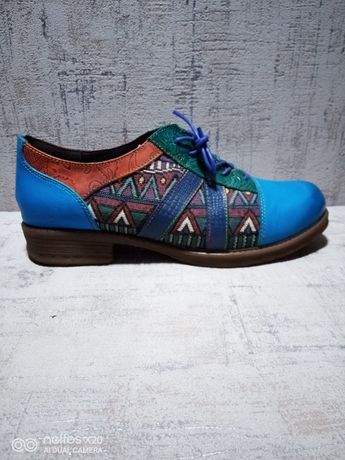 Туфли Socofy, ручная работа, кожа, 40-41 р-р.