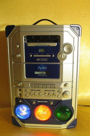 Karaoke Pop Idol Wzmacniacz 2x25W ze światłami