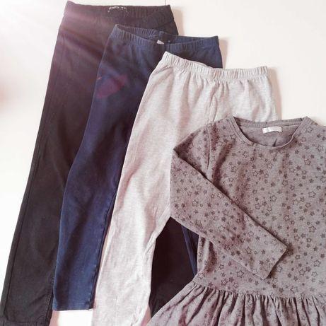 Zestaw 4 pary spodni, 2 bluzki Reserved, rozmiar 116, plus gratisy