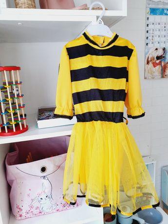 Strój karnawałowy Pszczółka Maja Sukienka Tiul 116 cm Nowy