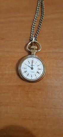 Женские часы кулон Чайка 17 камней СССР AU c цепочкой