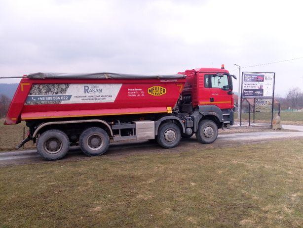 Transport Kruszyw samochodem 4 osiowym ziemia kamień wysiewka piasek