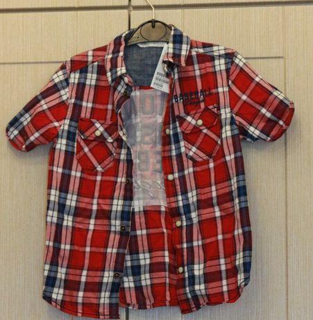 Новая рубашка с коротким рукавом, тениска H&M