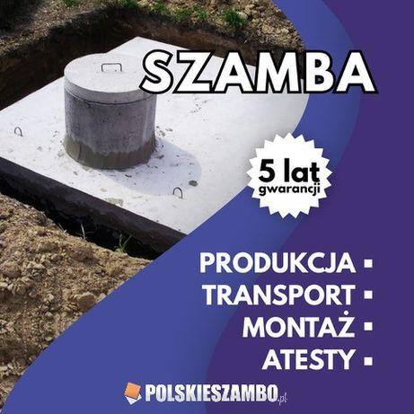 Szambo betonowe Zbiornik betonowy Deszczówka Woda Piwniczka Atest 100%