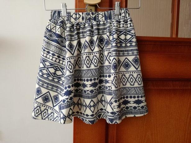 Spódnica mini w aztecki wzor xs/s