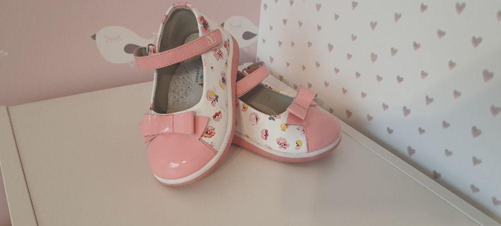 Туфли бело-розовые Beesky (25 размер, 15 см) Киев - изображение 1