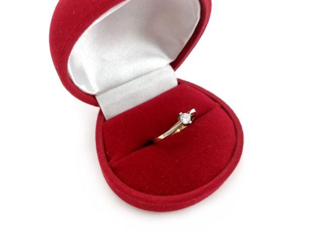 Złoty pierścionek z CYRKONIĄ 585 2,06G R14