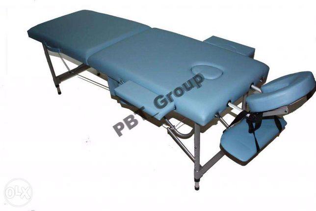 Масажний стіл ліжко 2-х сегментне алюмінійове 12кг.Акцыя
