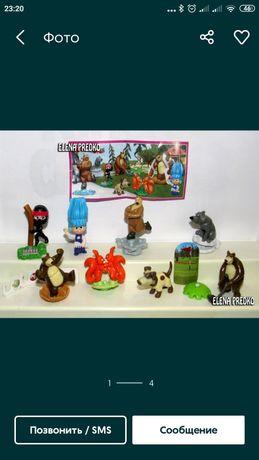 Игрушки с Киндер Маша и медведь