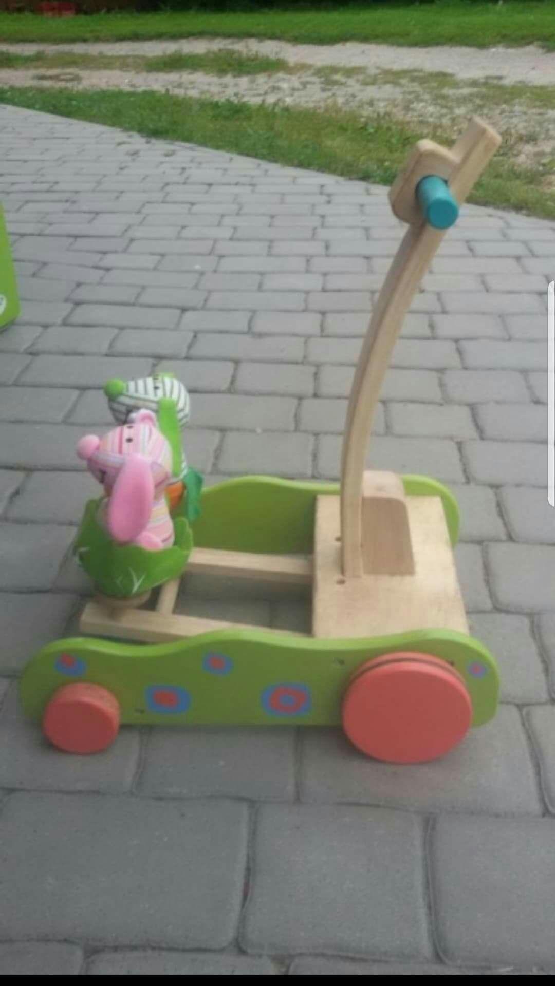 Chodzik dzieciecy drewniany