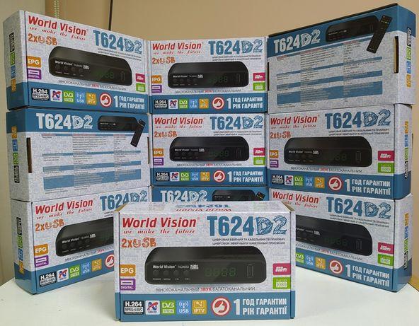 World Vision T624D2 приставка т2 приемник тюнер ресивер DVB-T2/C YouTu