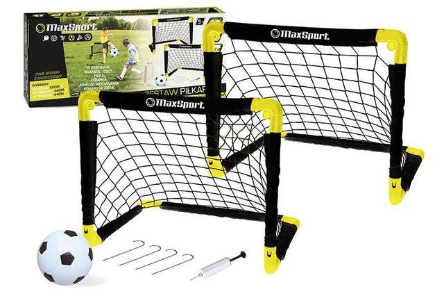 Bramki piłkarskie (2 sztuki) 54cm piłka nożna + pompka + piłka