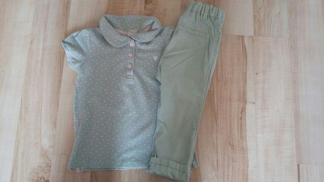 Zestaw H&M koszulka polo + spodnie rozm. 80-86, 9-18 mies
