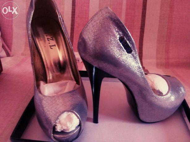 Продам туфлі, срібні