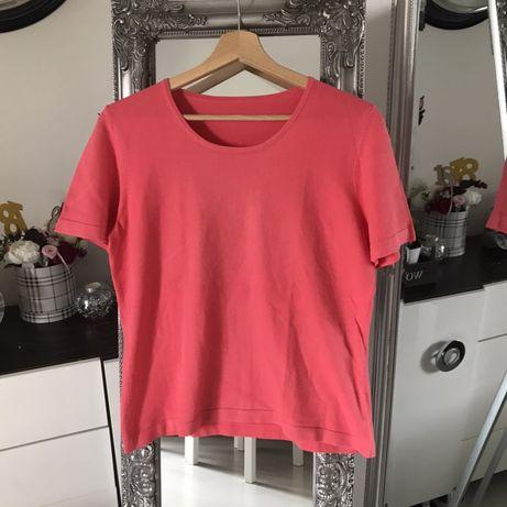 Bluzka łososiowa śliczna elegancka blogerska boho vintage