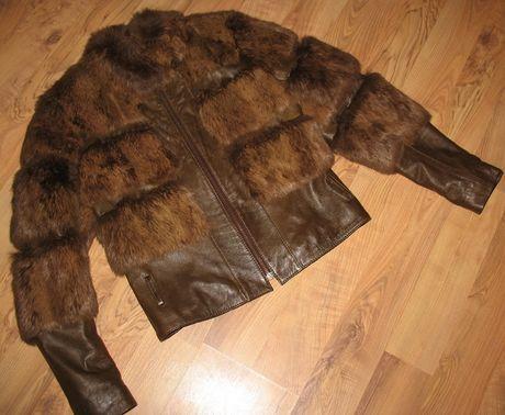 Skóra futro kurtka kożuszek królik naturalne rozm. 38