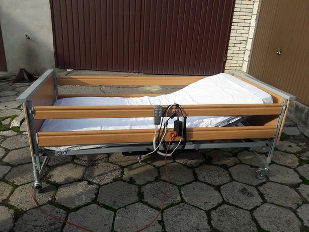 Łóżko rehabilitacyjne sterowane elektrycznie z materacem ZAMIANA