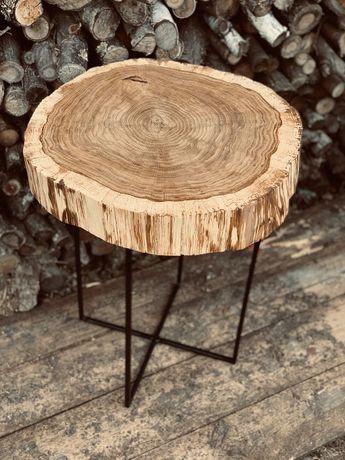 Stolik dębowy stolik z plastra dębu plaster dębowy stół dębowy dąb