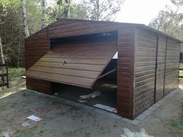 Solidne garaże blaszane garaż blaszany blaszak wiaty hale