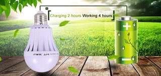 Lampada inteligente led 7w com bateria